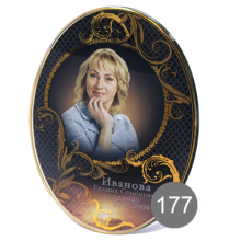овальный портрет на стекле с орнаментом 177