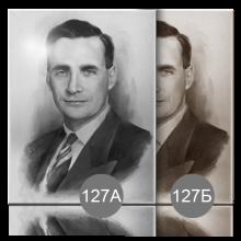 портрет для памятника с обработкой под гризайль 127