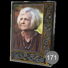 прямоугольный портрет на стекле с орнаментом 171